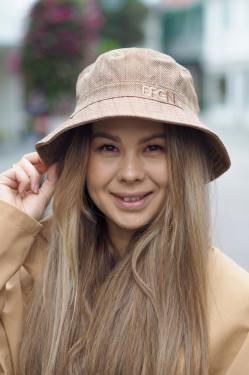 Bucket hat camel tweed