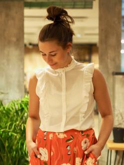 Corai blouse open white