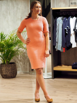 Deshape dress pastel orange