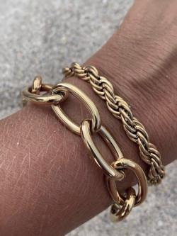 Link oval bracelet gold