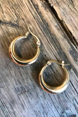 Arc earring gold