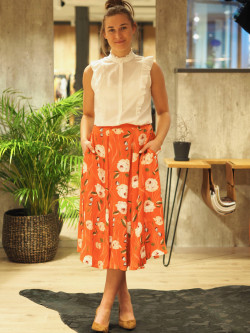 Jaquard skirt roses