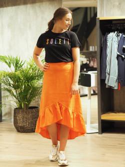 Linen skirt rusty