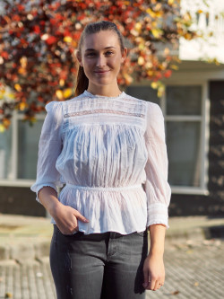 Victorian organza blouse white