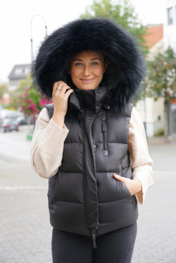 Stella Puffer vest black fade