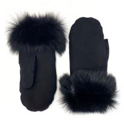 Toscana shearling mitten black