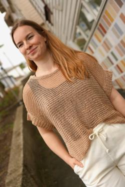 basil knit slipover sesame