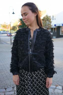 Malena bomber jacket black