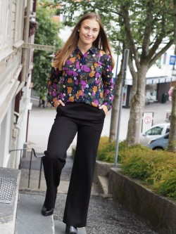 Athalie blouse antracite black