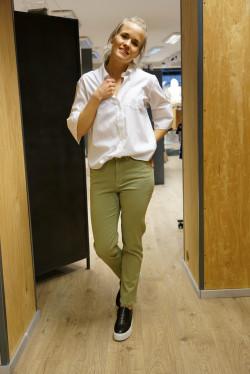 HW slim cropped jeans aloe green