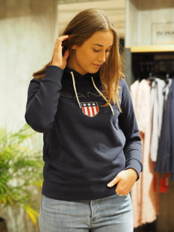 Gant shield sweat hoodie navy
