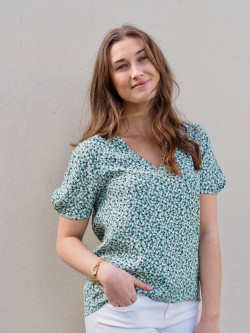 Summer floral blouse peppermint