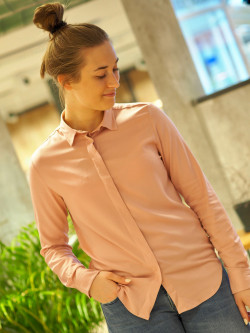 Featherweight twill blouse rose