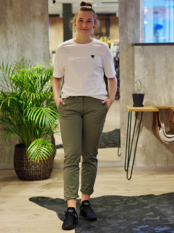 Classic cropped chino deep linchen green