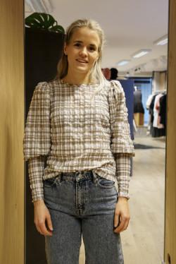 Hamilton blouse check beige