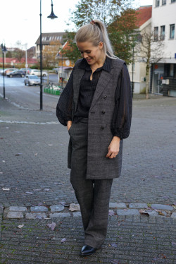 Marny trousers grey check