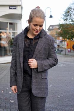 Marny blazer grey check