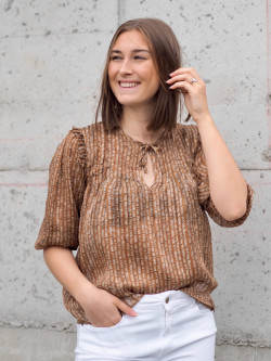 Josie 2 blouse golden brown