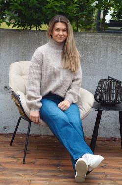 Syringa Rika knit roasted grey melange