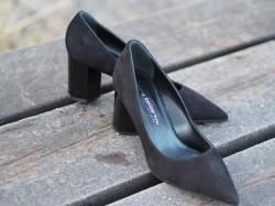 Gomma nero block heels pumps
