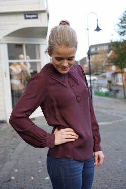 Lucille 2 blouse plum