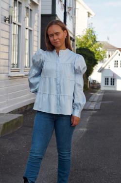 Isla solid shirt 15 dusty blue