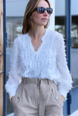 Milla 2 blouse vintage white