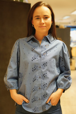 Frida blouse blue