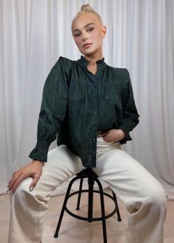 Linnea blouse deep green