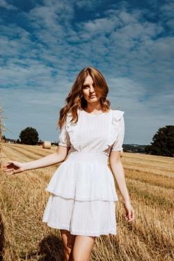 Ariane dress cream