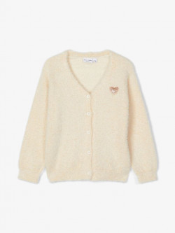 NMF Villis knit cardigan snow white