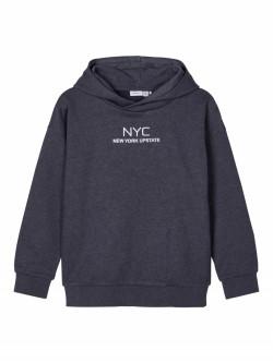 NKM Seam sweat hoodie dark sapphire