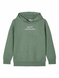 NKM Seam sweat hoodie dark ivy