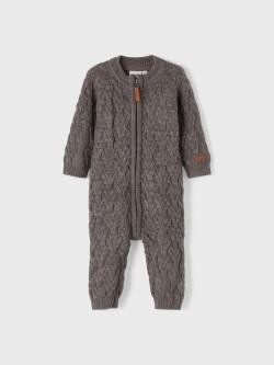 NBN Wruni wool knitted blanket plum kitte
