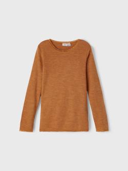 NKF Wang wool LS top brown suga