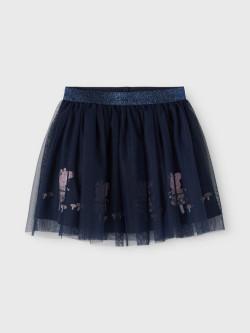NMF Peppepig cilla tulle skirt dark sapphire