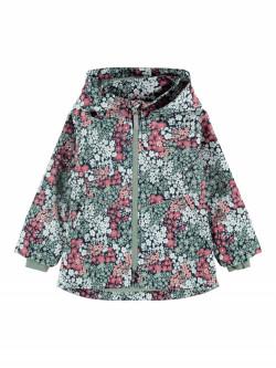 NMF Maxi jacket flower dark sapphire