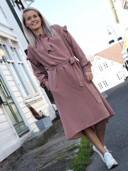 Kelly silk dress terracotta
