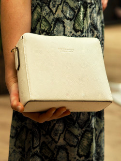 Grainys s convertible clutch blanc