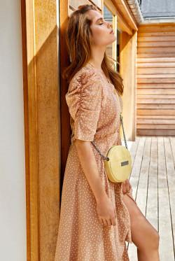 Franca dress organic dot tan