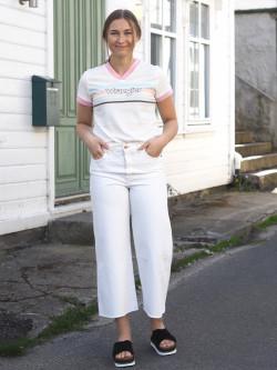 Western culotte vintage white